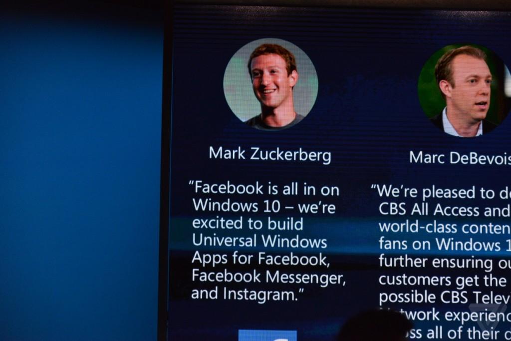 مؤتمر مايكروسوفت تطبيقات إنستاجرام وفيسبوك ماسنجر قادمة إلى ويندوز 10