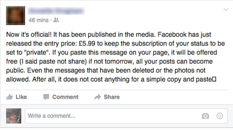 فيسبوك المدفوع خدعة ويجب أن لاتكلف نفسك عناء مشاركتها