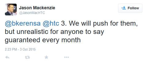 HTC تتملص من التحديثات الأمنية الدورية لأجهزتها
