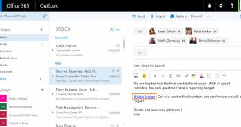 مايكروسوفت تقدم الإعجاب والمنشن في البريد أوتلوك