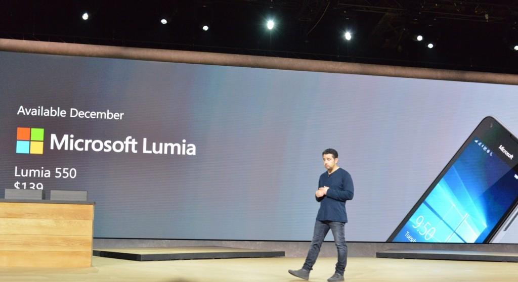 مؤتمر مايكروسوفت لوميا 550 قادم بسعر 139 دولار