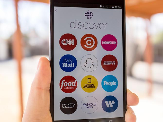 سناب شات تغلق قناتها على منصة Discover