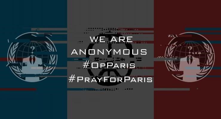 أنونيموس تفجيرات باريس داعش