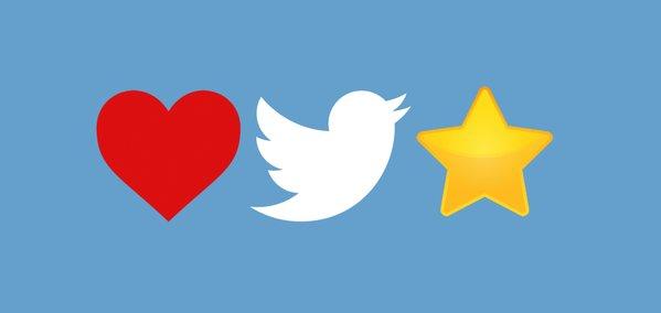 مستخدمي تويتر يحبون قلب الاعجاب أكثر من نجمة المفضلة