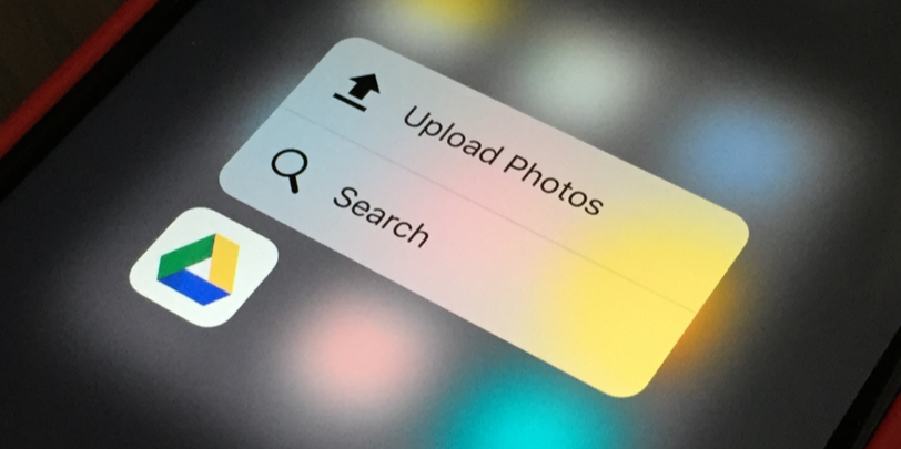 Google Drive على iOS يدعم خاصية اللمس 3D Touch وأكثر