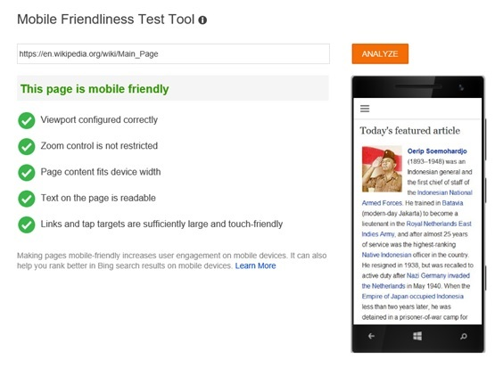 bing-MobileFriendly