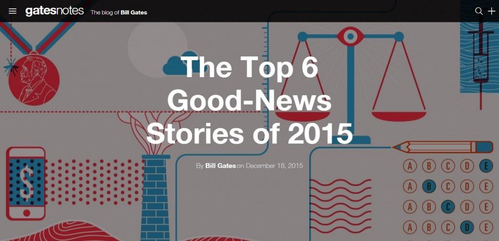 ملخص عام 2015 لبيل جيتس 6 أحداث لا تنسى