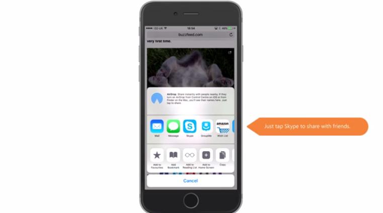 تحديث سكايب يدعم قائمة مشاركة الملفات على iOS