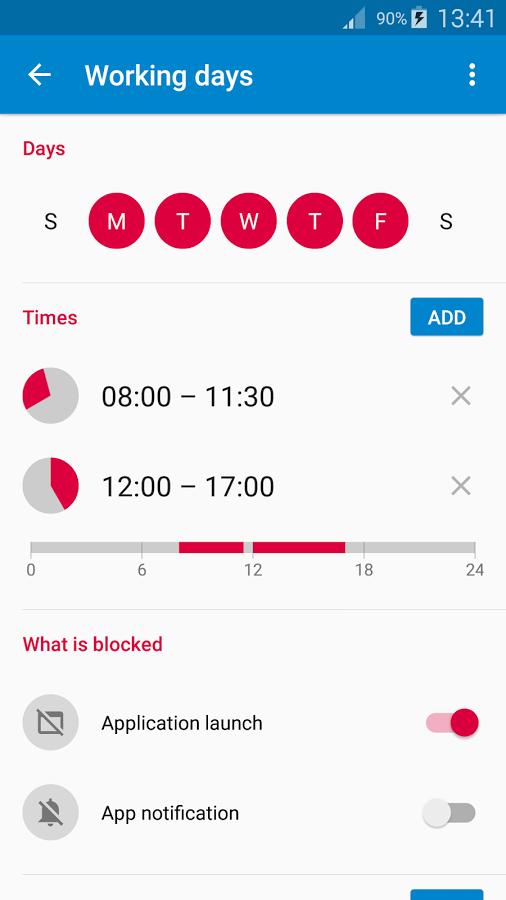 تطبيق AppBlock تطبيق قفل التطبيقات لأوقات محددة