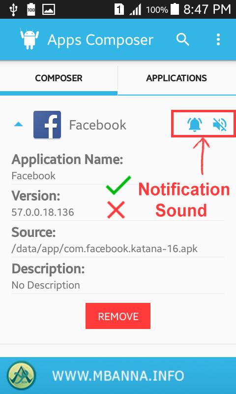 تطبيق AppsComposer للتحكم بإشعارات التطبيقات المُثبتة على هاتفك أندرويد