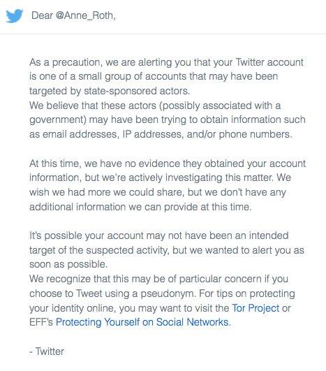 تويتر تحذر مستخدميها من تعرض حساباتهم للقرصنة الدولية