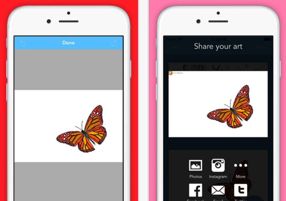 Colorscape على iOS لتفريغ الصور المُلونة لإعادة رسمها مرة أخرى