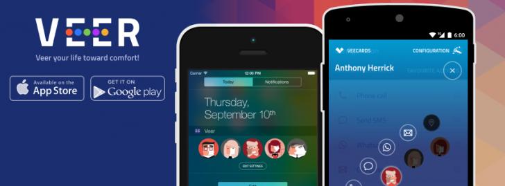 تطبيق Veer contacts widget للوصول السريع لكافة جهات الاتصال