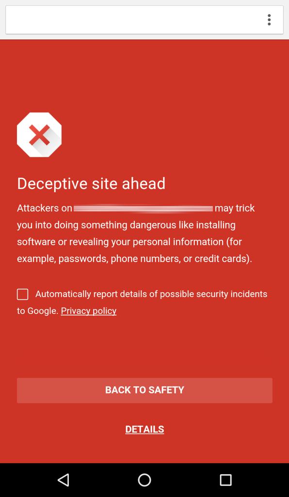 كروم على أندرويد يفعل التصفح الآمن افتراضيا