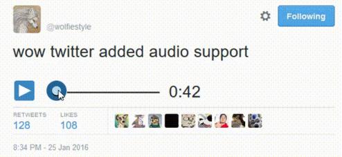 هل سيدعم تويتر إضافة الملفات الصوتيه قريبا