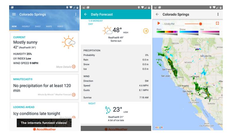 تحديث تطبيق الطقس AccuWeather على أندرويد يجلب تصميم وواجهة جديدة