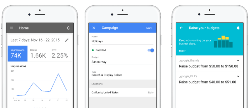 قوقل تطلق تطبيق المنصة الإعلانية AdWords على iOS