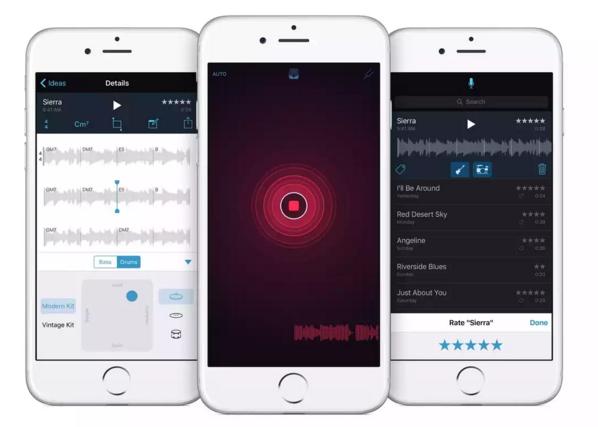 آبل تطلق تطبيق تسجيل الصوتيات Music Memos
