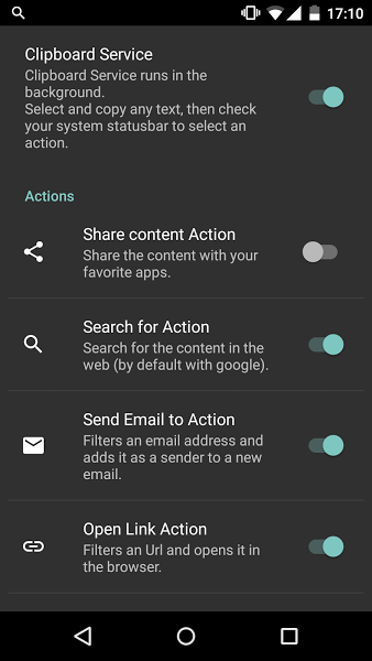 Clipboard Actions