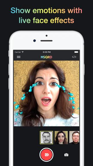 تطبيق MSQRD على iOS لتقديم تجربة ممتعة بالصور ومقاطع الفيديو السيلفي