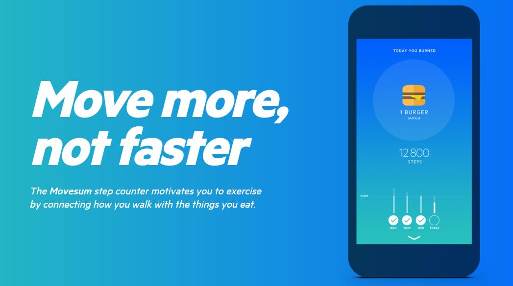 تطبيق Movesum على آيفون يُخبرك كم عدد الخطوات لحرق ما تأكله