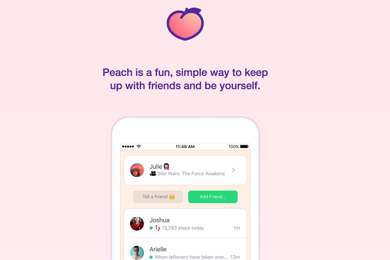 Peach تطبيق تراسل جديد على آيفون من تطوير شركة Vine