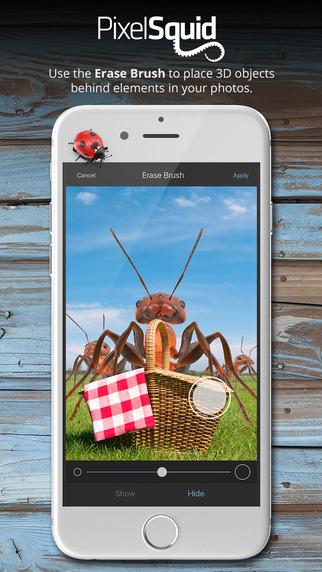 تطبيق PixelSquid على iOS لإضافة أجسام 3D على صورك مميز