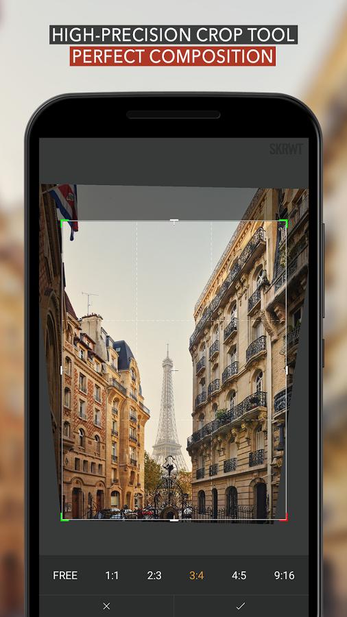 تطبيق الكاميرا ومعالج الصور القوي SKRWT رسميا على متجر بلاي