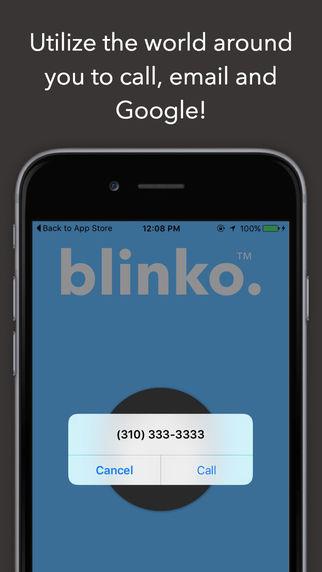 blinko على آيفون لإستخراج رقم هاتف أو بريد إلكتروني أو إسم من صورة