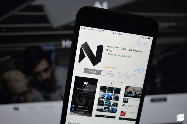 مايكروسوفت تطلق تطبيق الأخبار News Pro