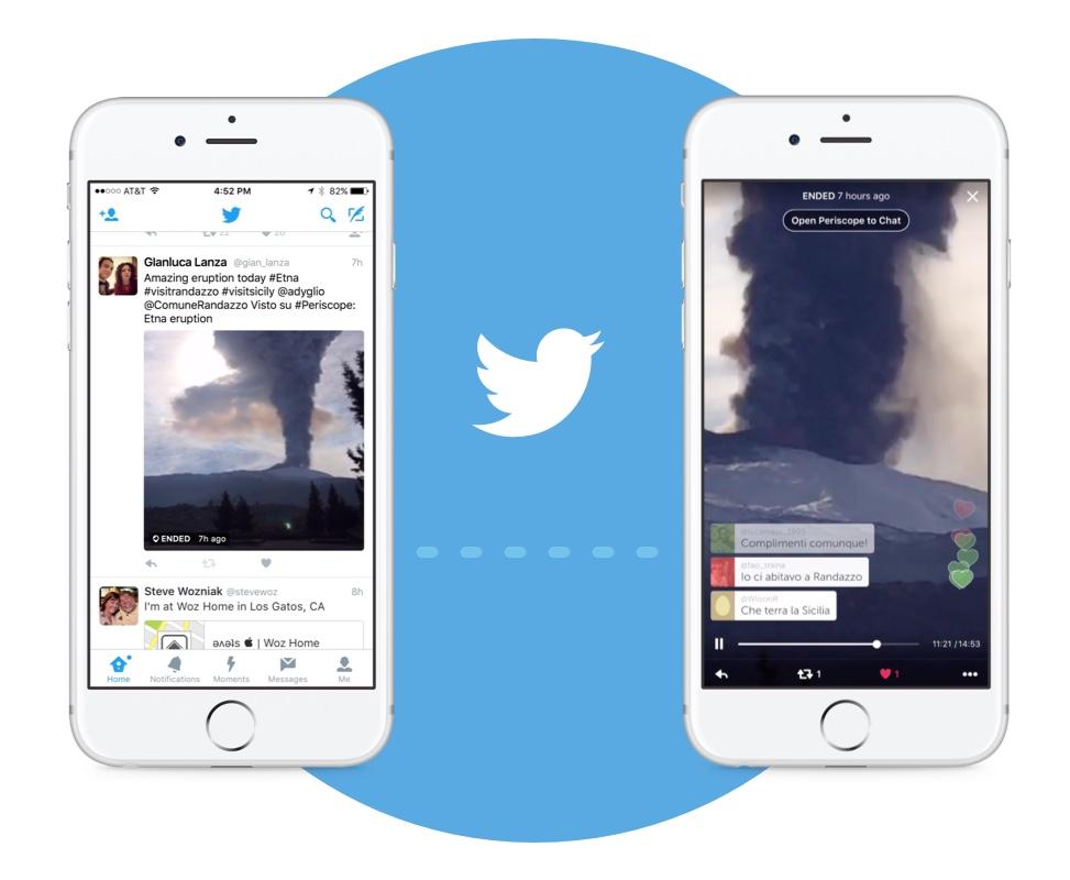 الآن يمكنك مشاهدة بث Periscope ضمن تطبيق تويتر