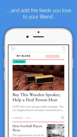 My Blend على iOS لجعل رسائل البريد الإخبارية مجلة أنيقة