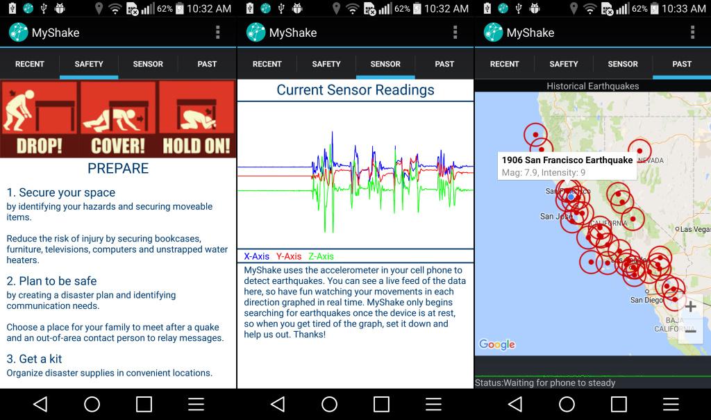 تطبيق MyShake يُحوّل هاتف الأندرويد لنظام إنذار مُبكّر للزلازل