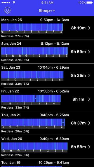 تطبيق Sleep   على iOS لتحليل وتتبع نومك