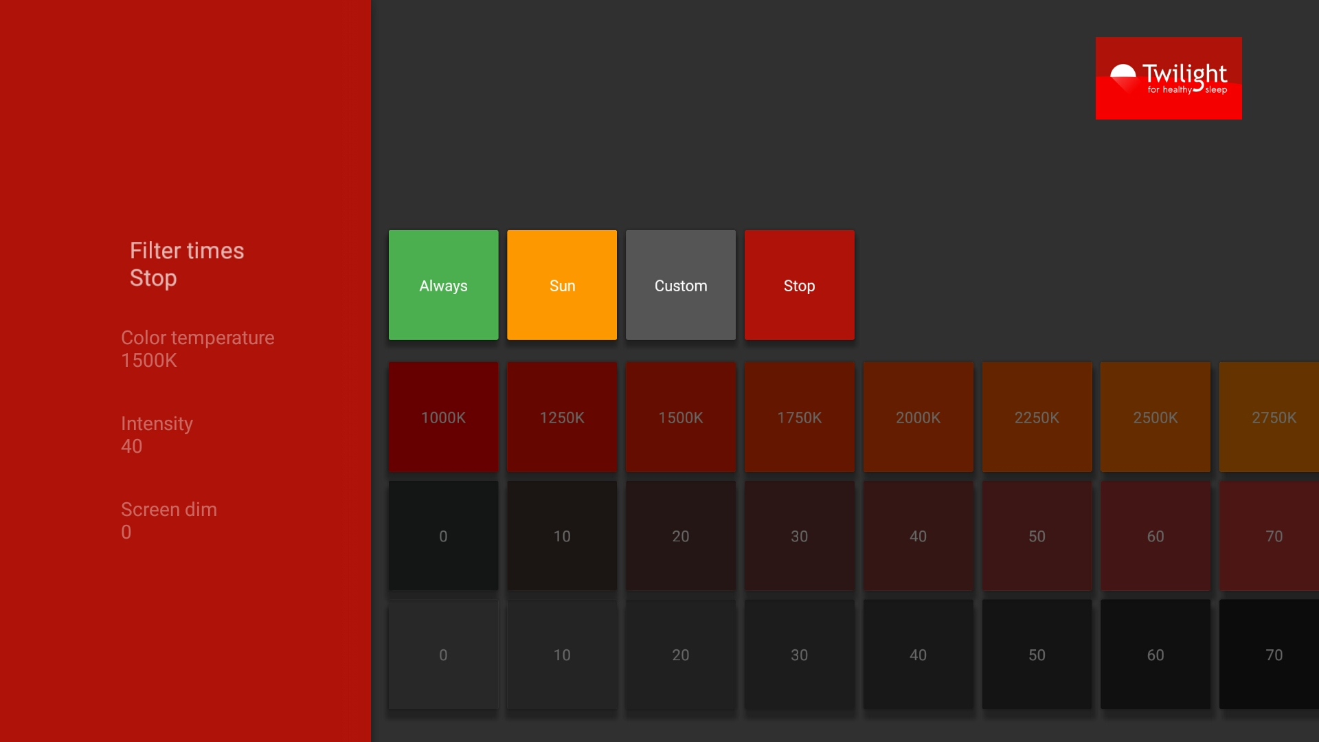 تحديث تطبيق Twilight يدعم الان اندرويد وير و Android TV