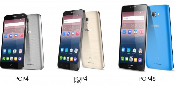 MWC 2016 ألكاتيل تدشن عائلة POP 4 بثلاثة هواتف