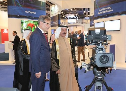 His Highness Sheikh Hasher Bin Maktoum Al Maktoum, Director General of Dubai's Department of Information, opened CABSAT 2016
