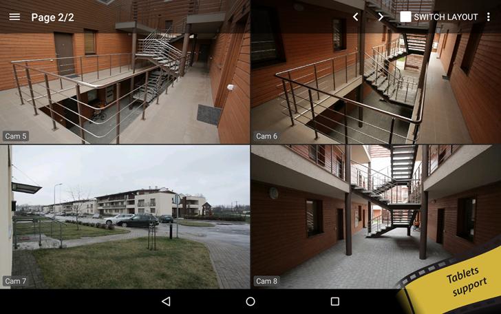 تطبيق المراقبة TinyCam Monitor يدعم الآن تعدد الشاشات في Android N وأكثر