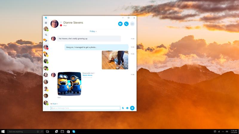 مايكروسوفت تطور تطبيق سكايب الشامل لويندوز 10