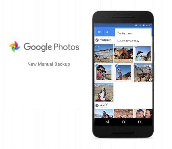 تطبيق صور قوقل يدعم الآن النسخ الإحتياطي اليدوي للصور