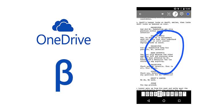 تحديث تجريبي لتطبيق ون درايف يجلب ميزة الشروحات التوضيحية على ملفات PDF