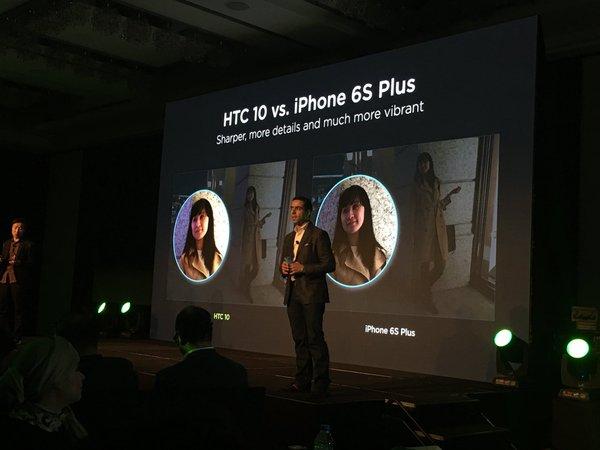صورة من مؤتمر الكشف عن هاتف HTC 10