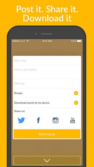 تطبيق actvt المجاني لتحرير الفيديو على آيفون