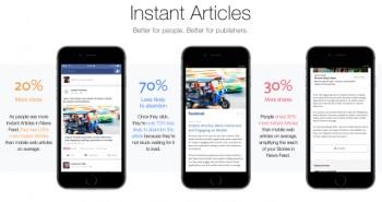 فيس بوك تطلق ميزة المقالات الفورية لكافة الناشرين