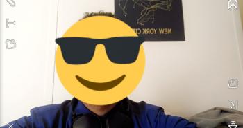 سناب شات على آيفون يدعم وضع ملصقات على الفيديو