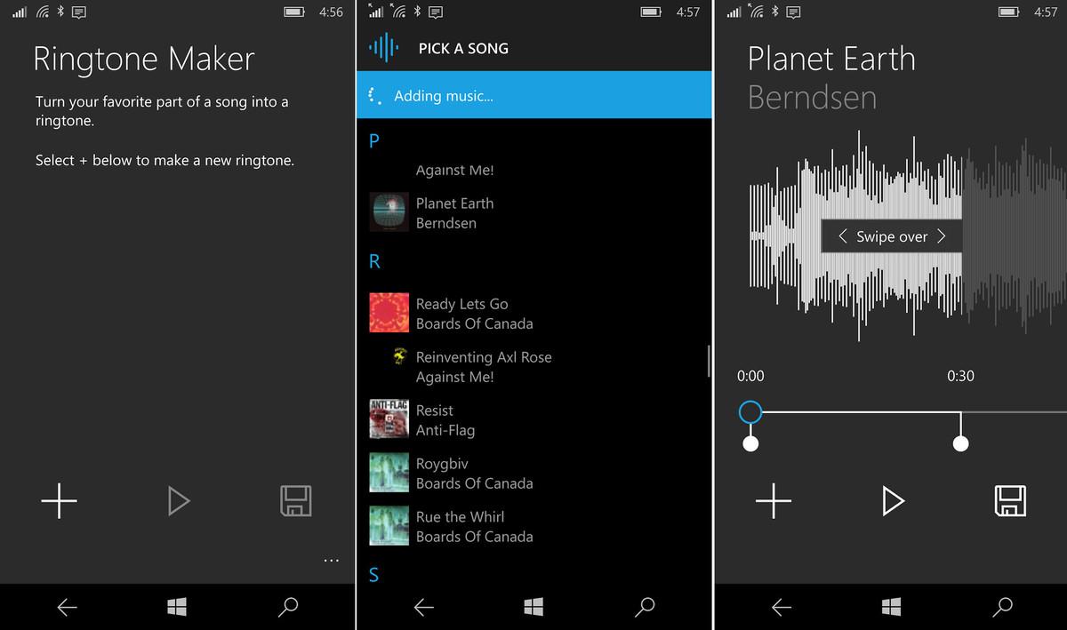 مايكروسوفت رسميًا تُطلق تطبيقها صانع النغمات على ويندوز 10 موبايل