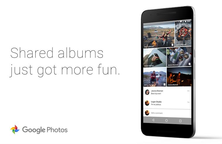 تطبيق صور قوقل تُجلب خيار التعليق على الألبومات المشتركة وأكثر