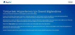 باي بال توقف خدماتها في تركيا