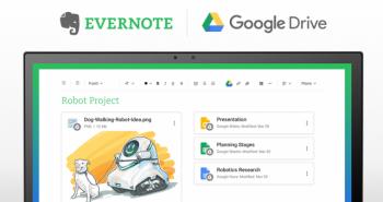 Evernote تُعلن التكامل مع خدمة التخزين السحابي قوقل درايف