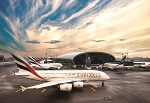 Emirates-Airbus-A380s-in-Dubai-Airport